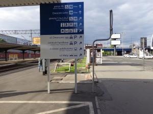 Widok na plac Dworcowy z peronu 4