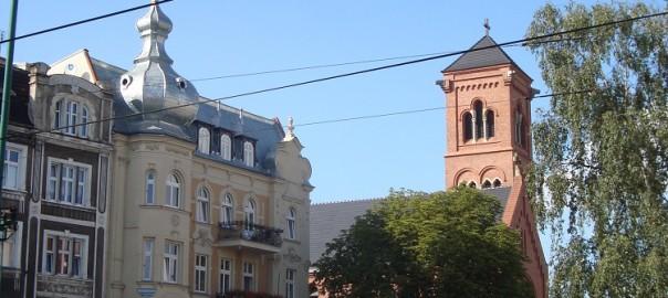 skrzyżowanie Dąbrowskiego z Kościelną