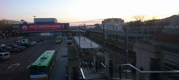 Remont peronu 4 na stacji Poznań Główny