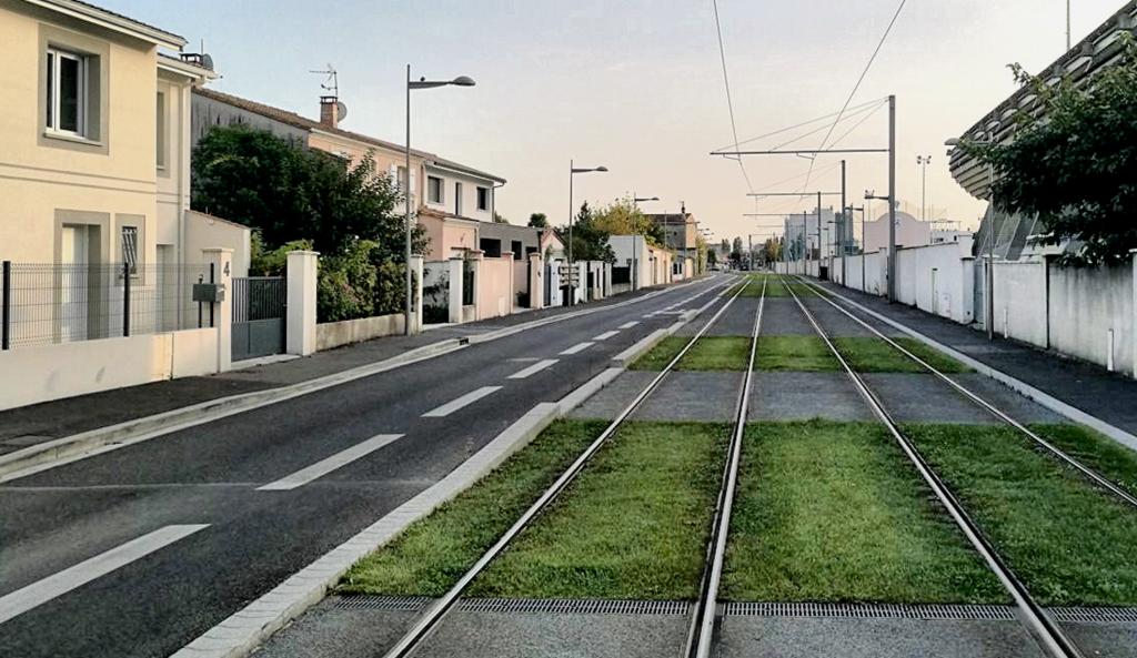 Zdjęcie 2: rue des Frères Moga z linią tramwajową (autor: Michał Mięsiak, IdP)